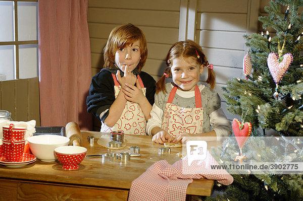 Christmas bakery  children baking