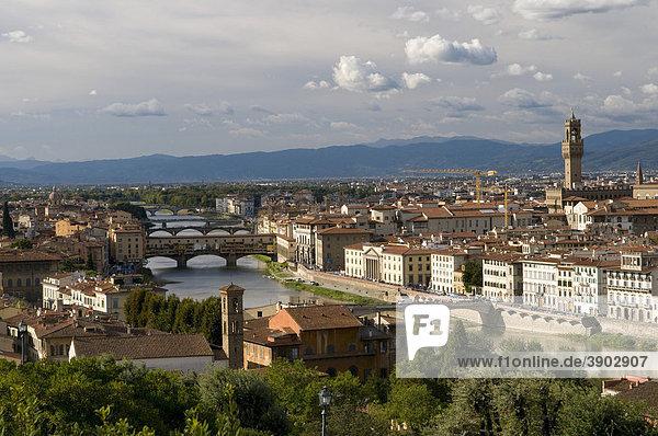 Ausblick vom Monte alle Croci auf die Stadt  Florenz  Toskana  Italien  Europa