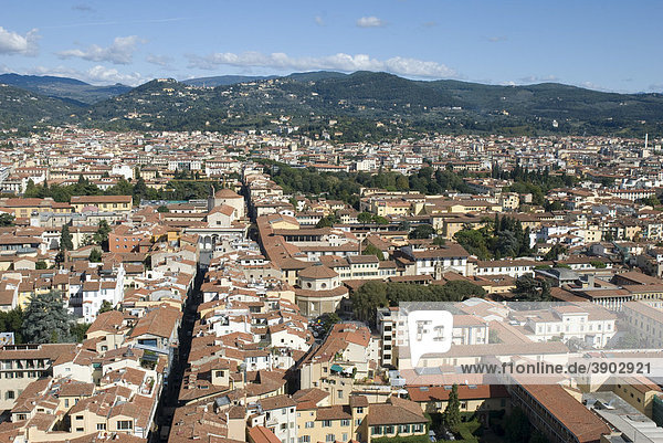 Aussicht vom Dom Duomo Santa Maria del Fiore  UNESCO-Weltkulturerbe  Florenz  Toskana  Italien  Europa