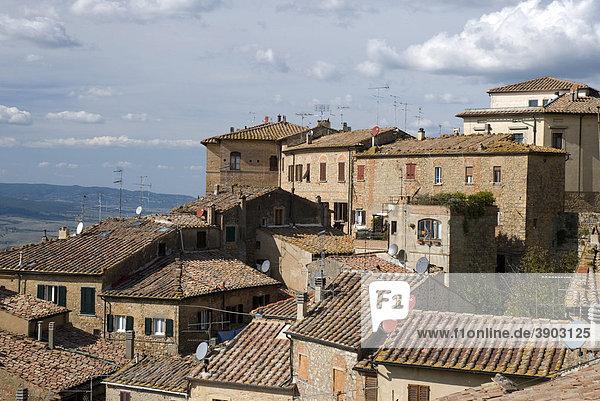 Stadtansicht von Volterra  Toskana  Italien  Europa