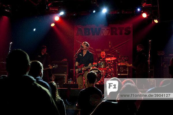 German punk band Abwaerts  live in the Schueuer  Lucerne  Switzerland