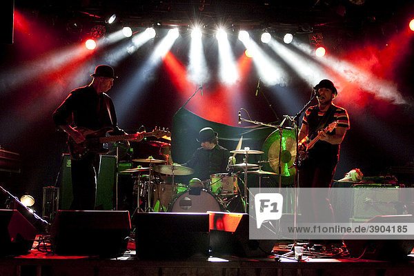 The U.S. singer and songwriter Matt Boroff with band live at the Schueuer venue  Lucerne  Switzerland