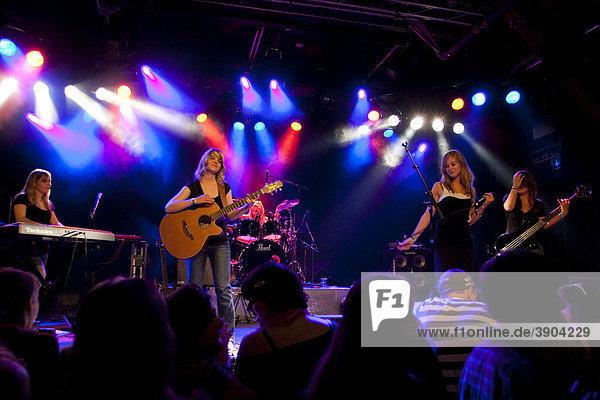 The Swiss women's band Caprice live at the Schueuer venue  Lucerne  Switzerland