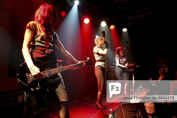 The British electropop band Client live at the Boa cultural centre  Lucerne  Switzerland