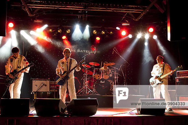 The Swiss band Dave Satellite live at the Schueuer venue  Lucerne  Switzerland