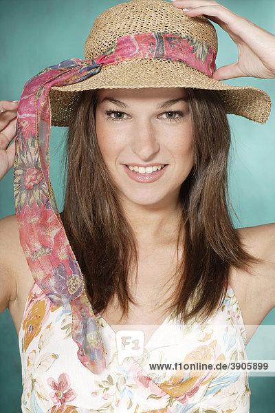 Young woman  hat  portrait