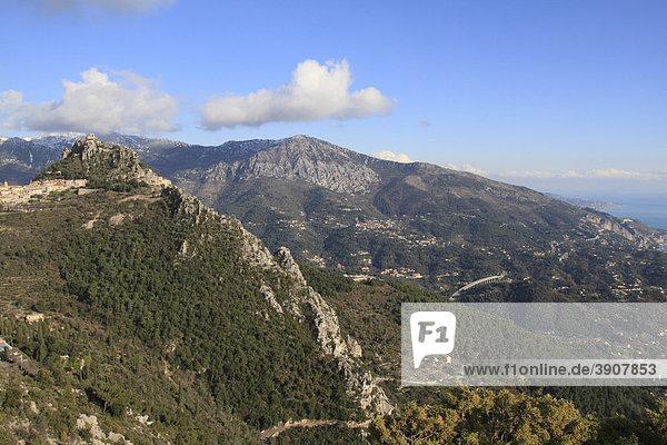 Sainte AgnËs  höchstgelegenes Bergdorf am Mittelmeer  DÈpartement Alpes Maritimes  RÈgion Provence Alpes CÙte d'Azur  Südfrankreich  Frankreich  Europa