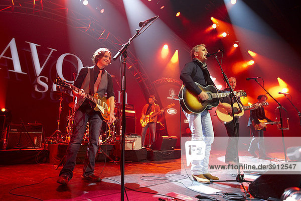 Kevin Costner and his band  Modern West  performing at the AVO Session  Basel  Switzerland  Europe