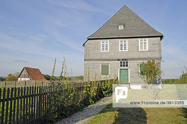 Pastorat  Pfarrhaus  Freilichtmuseum  westfälisches Landesmuseum für Volkskunde  Detmold  Nordrhein-Westfalen  Deutschland  Europa