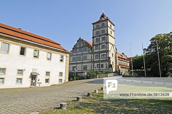 KRZ  kommunales Rechenzentrum  Schloss Brake  Weserrenaissance Museum  Wasserschloss  Lemgo  Ostwestfalen Lippe  Nordrhein-Westfalen  Deutschland  Europa