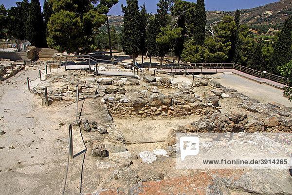 Knossos  Ausgrabungsstätte  Minoischer Palast  Heraklion  Kreta  Griechenland  Europa