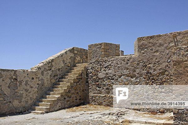 Venezianischer Palast  Zitadelle  Festung  Ierapetra  Kreta  Griechenland  Europa