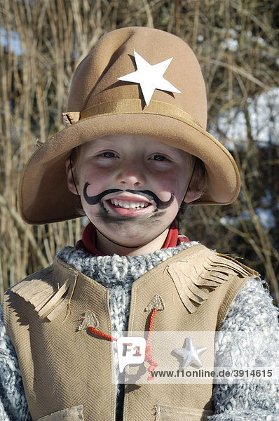 Boys  5  dressed as a cowboy for Carnival