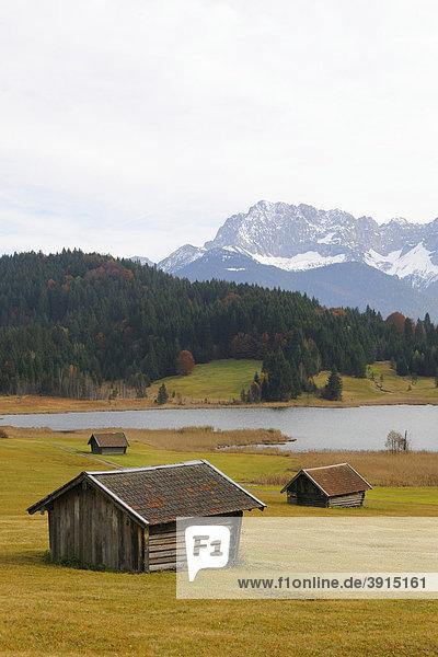 Geroldsee  Wagenbrüchsee  Karwendelgebirge  Werdenfelser Land  Oberbayern  Bayern  Deutschland  Europa