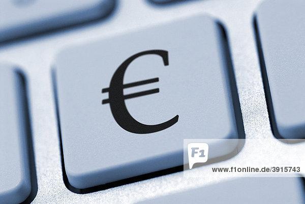 Euro-Zeichen auf einer Computertastatur