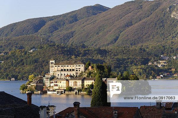 Insel San Giulia  Ortasee  Lago d'Orta  Piemont  Italien  Europa