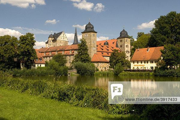 Schloss  Universität  Thurnau  Fränkische Schweiz  Bayern  Deutschland