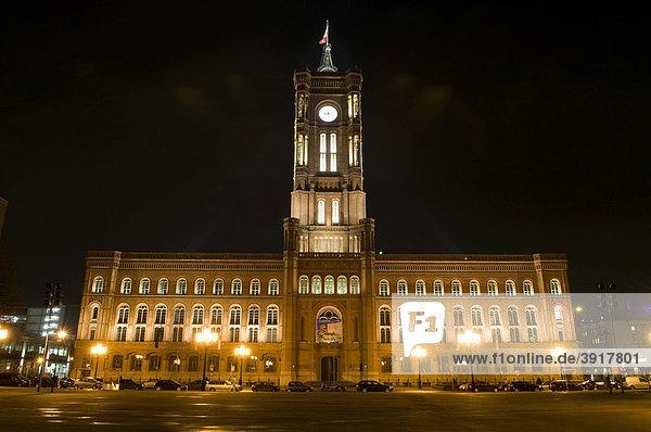 Berliner Rathaus auch Rotes Rathaus genannt  Berlin  Deutschland  Europa