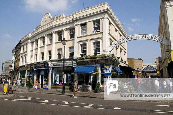 Greenwich Market in Greenwich  London  England  Großbritannien  Europa