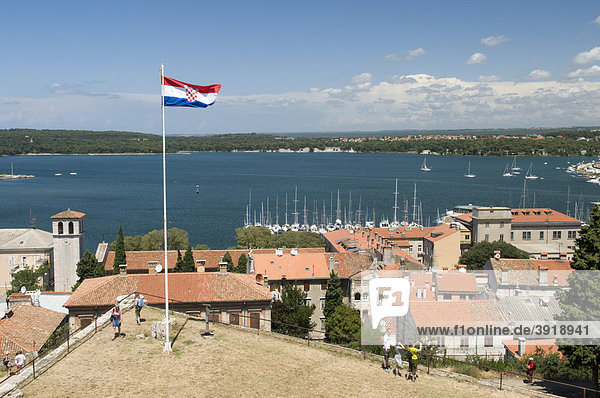 View from the fortress  Pula  Istria  Croatia  Europe