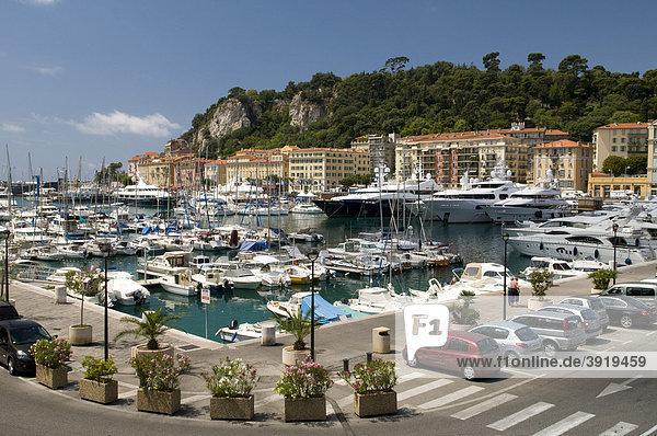 Hafen Bassin Lympia  Nizza  Cote d'Azur  Provence  Frankreich  Europa