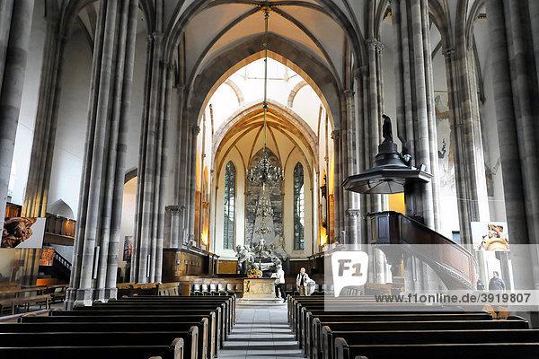 Innenansicht  Kirche Saint-Thomas  Straßburg  Elsass  Frankreich  Europa Innenansicht, Kirche Saint-Thomas, Straßburg, Elsass, Frankreich, Europa