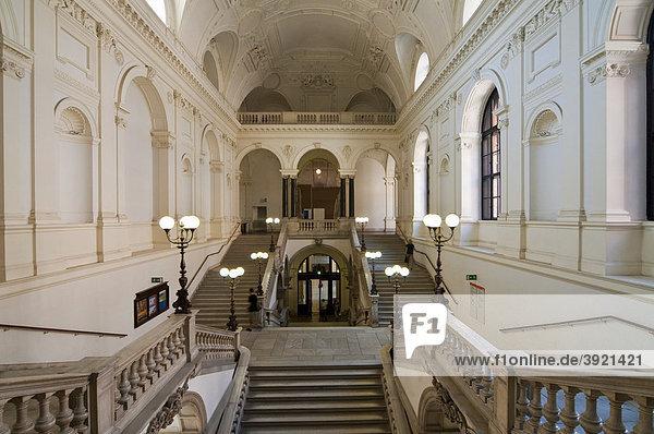 Treppenhaus  Stiegenhaus  Universität  Ringstraße  Wien  Österreich  Europa