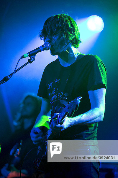 Singer and front man Dave Pen of the British band Birdpen live in the Schueuer concert hall Lucerne  Switzerland