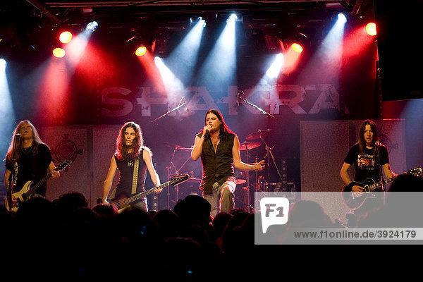 The Swiss hard rock band Shakra live at the Schueuer concert hall  Lucerne  Switzerland