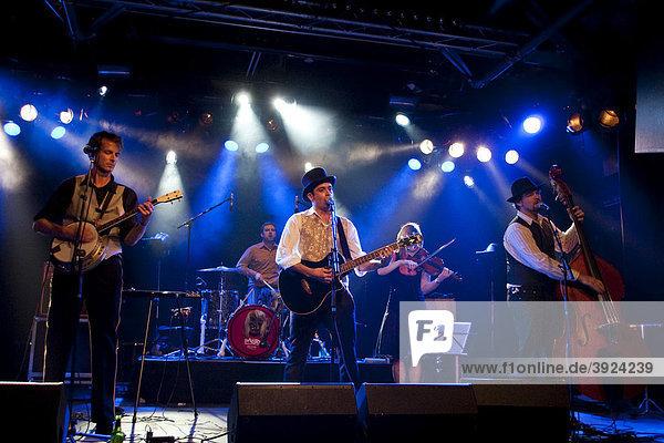 The Swiss band Gabba Count live at the Schueuer concert hall  Lucerne  Switzerland