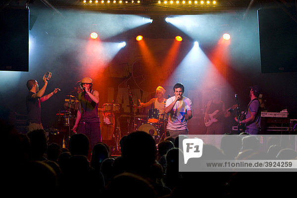 The German Reggae band Jamaram live at the Schueuer concert hall  Lucerne  Switzerland