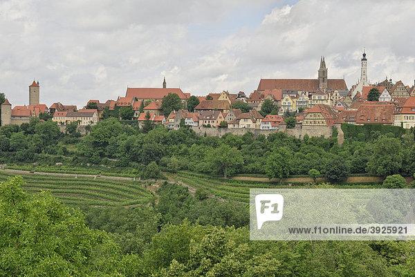 Rothenburg ob der Tauber  Stadtansicht  Detail  Bayern  Deutschland  Europa