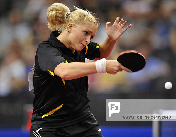 Vice European champion Margaryta PESOTSKA  Ukraine  table tennis EM 2009  Porsche-Arena  Stuttgart  Baden-Wuerttemberg  Germany  Europe