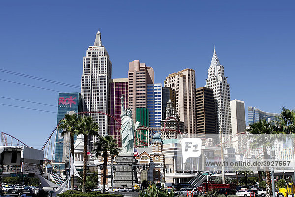 Das Hotel New York New York am Las Vegas Boulevard in Las Vegas  Nevada  USA