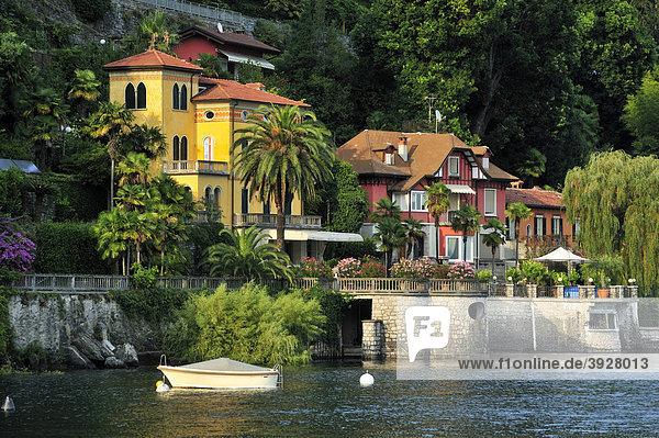 Villen am Lago Maggiore  Cannero Riviera  Piemont  Italien  Europa