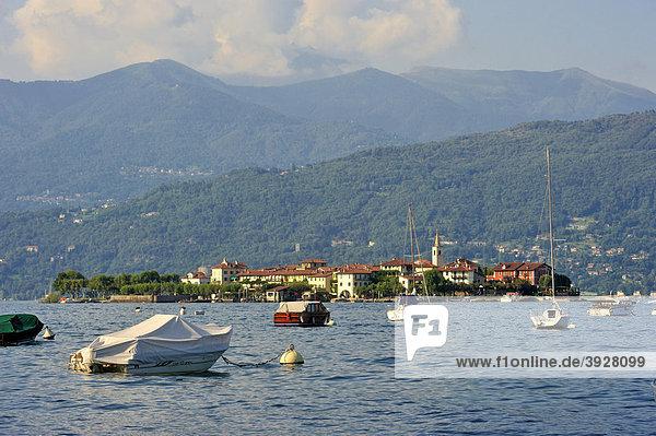 Isola dei Pescatori  Borromäische Inseln  Stresa  Lago Maggiore  Piemont  Italien  Europa
