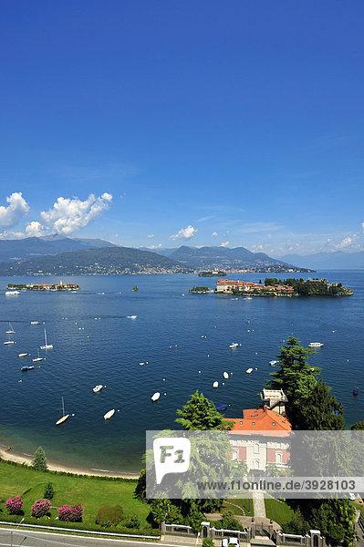 Isola Bella und Isola dei Pescatori  Borromäische Inseln  Stresa  Lago Maggiore  Piemont  Italien  Europa