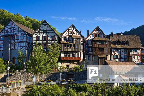 Ortsbild bei der Häberlesbrücke  Schiltach  Schwarzwald  Baden-Württemberg  Deutschland  Europa