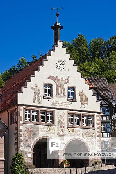 Rathaus  Schiltach  Schwarzwald  Baden-Württemberg  Deutschland  Europa