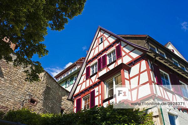 Häuser an der Marktsteige  Horb am Neckar  Schwarzwald  Baden-Württemberg  Deutschland  Europa