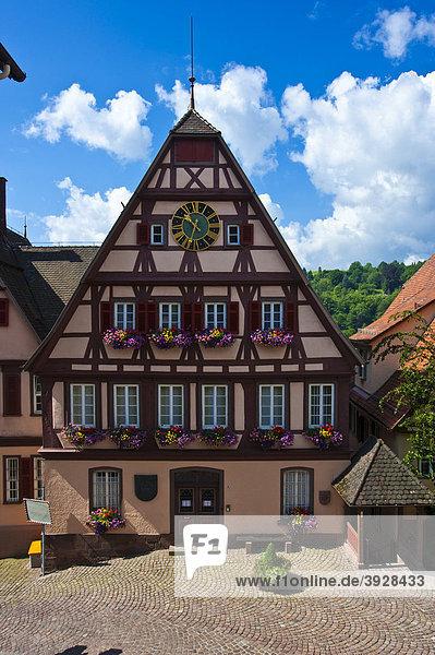 Altes Rathaus  Altensteig  Schwarzwald  Baden-Württemberg  Deutschland  Europa