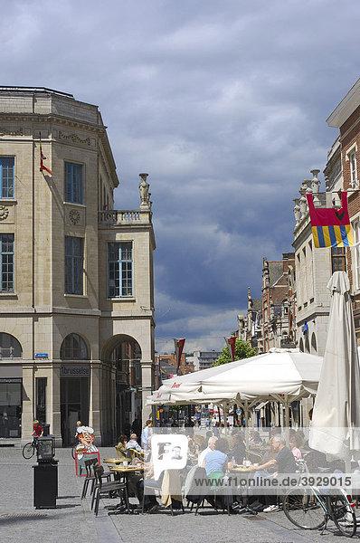 Grote Markt  main square  Leuven  Louvain  Brabant  Flanders  Belgium  Europe