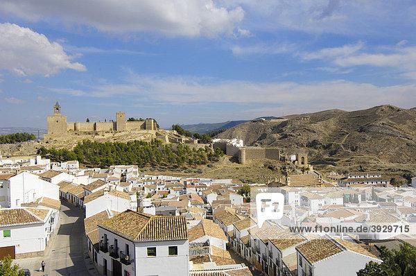 Antequera's castle  12th - 16th century  Malaga province  Andalusia  Spain  Europe