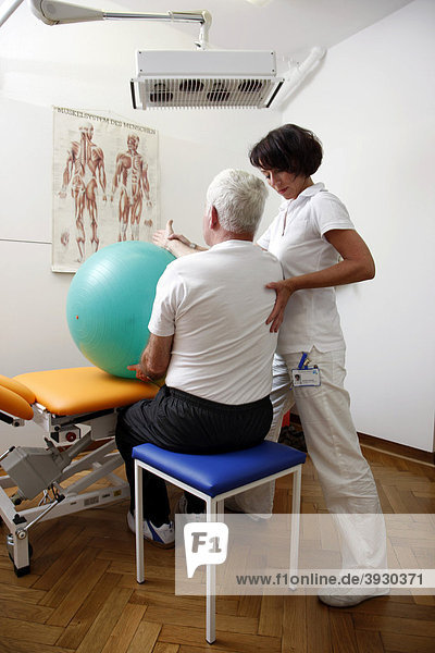 Physiotherapy  physical therapy department in a hospital  inpatient and outpatient treatment of patients  Gelsenkirchen  North Rhine-Westphalia  Germany  Europe