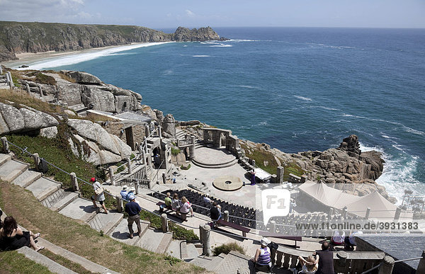 The Minack Theater  open-air  Porthcurno  Cornwall  England  United Kingdom  Europe