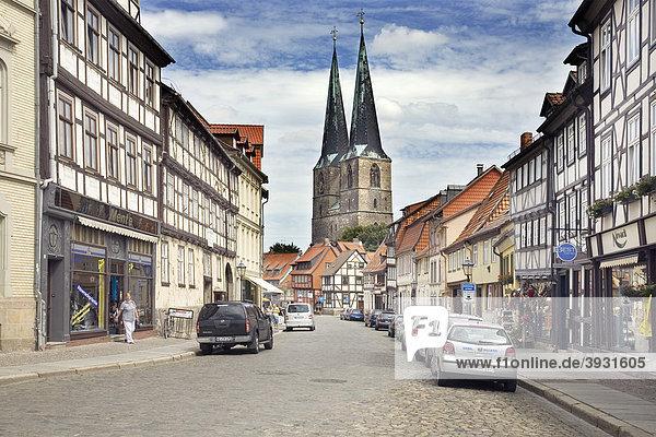 Pölkenstraße  Quedlinburg  Sachsen-Anhalt  Deutschland  Europa