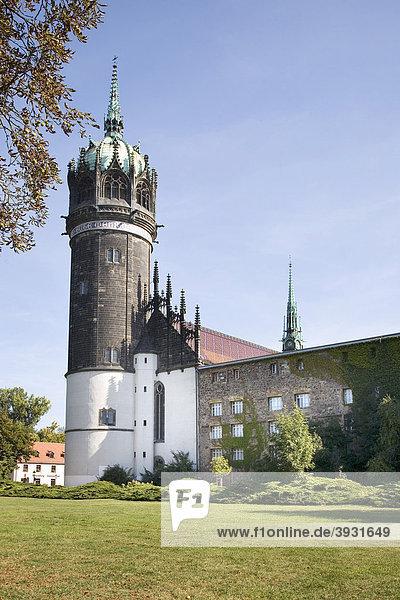 Schlosskirche  Lutherstadt Wittenberg  Sachsen-Anhalt  Deutschland  Europa
