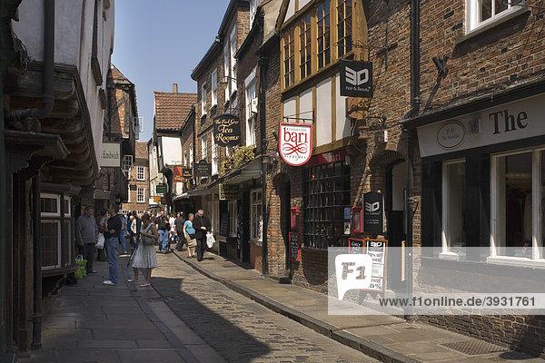 The Shambles Straße  York  North Yorkshire  England  Vereinigtes Königreich  Europa