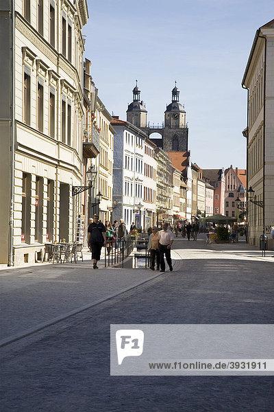 Schlossstraße  Lutherstadt Wittenberg  Sachsen-Anhalt  Deutschland  Europa