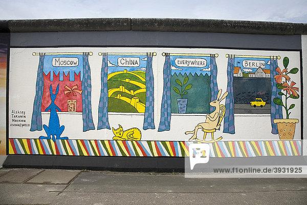 Berliner Mauer  East Side Gallery  Berlin  Deutschland  Europa